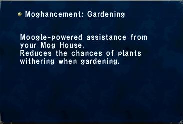 Key item moghancement gardening