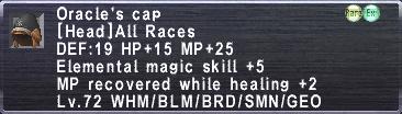 Oracle's Cap