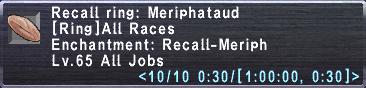 Recall ring meriphataud