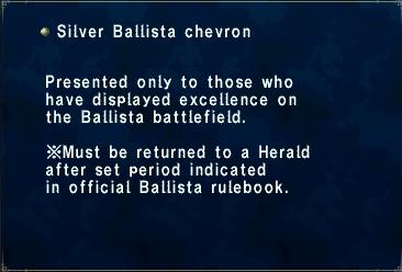 Silver ballista chevron