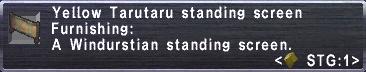 Yellow Tarutaru Screen Stats