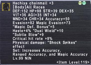 Hachiya Chainmail +3