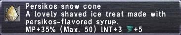Persikos Snow Cone