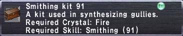 Smithing Kit 91