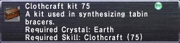 Clothcraft Kit 75