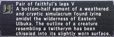 Faithful's Legs V