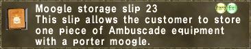 Moogle storage slip 23