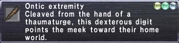 Ontic Extremity