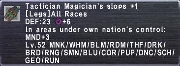Tactician Magician's Slops+1