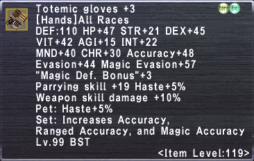 Totemic Gloves +3