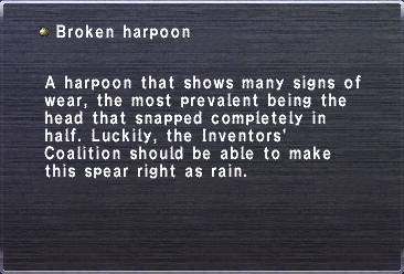 Broken harpoon