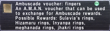 Ambuscade Voucher Fingers