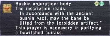 Bushin abjuration body