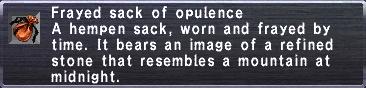 Frayed Sack of Opulence