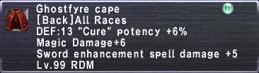 Ghostfyre Cape