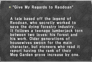 Give My Regards to Reodoan