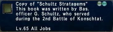 Schultz Stratagems