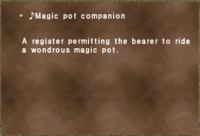 ♪Magic pot companion