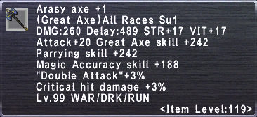 Arasy Axe Plus 1