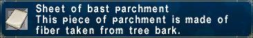 Bast Parchment Pic