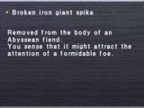 Broken Iron Giant Spike