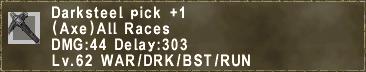 Darksteel pick +1