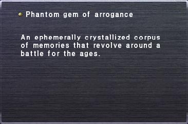 Phantom gem of arrogance
