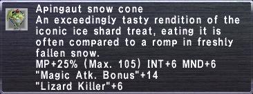 Apingaut snow cone