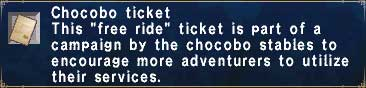 Chocobo-Ticket