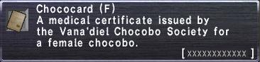 Chococard F