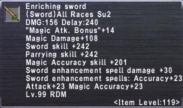 Enriching Sword