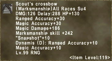 Scout's crossbow