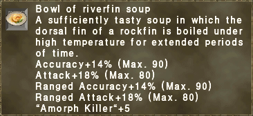 Bowl of riverfin soup