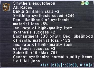 Smythe's Escutcheon