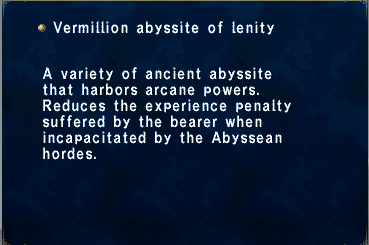 Vermillion abyssite of lenity