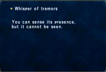 Whisper of tremors