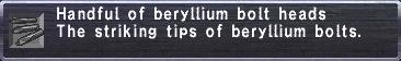 Beryllium Bolt Heads