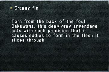 Craggy fin