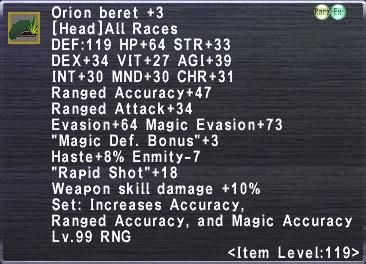 Orion Beret +3