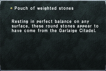 Pouch of Weighted Stones