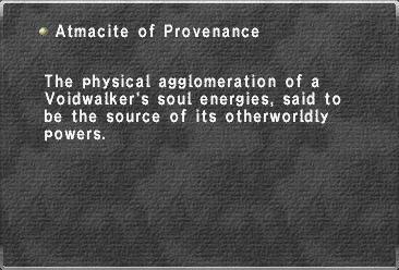 Atmacite of Provenance