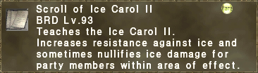 Scroll of Ice Carol II