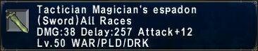Tactician Magicans Espadon