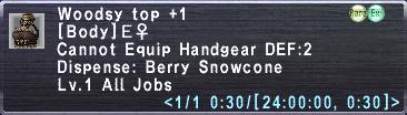 Woodsy Top Plus 1