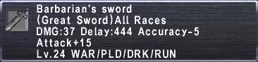 Barbarian's Sword