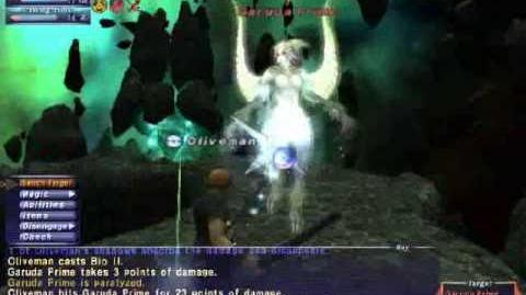 Oliveman - Garuda - Naked Avatar Solo - FFXI