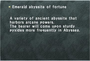 Emerald Abyssite of Fortune