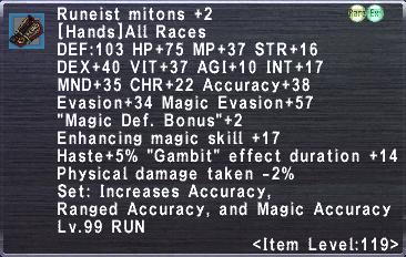 Runeist Mitons +2