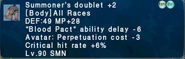 Summoner's doublet +2