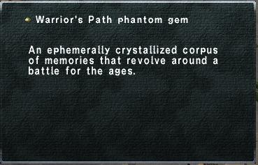 Warrior's Path phantom gem